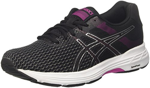 Asics Gel-Phoenix 9, Zapatillas de Running para Mujer Multicolor (Black/Silver/Fuchsia Red 9093)