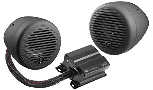 Planet Audio Pmc2b Bluetooth  Weatherproof Speaker And Amplifier Sound System  3  Speakers  Bluetooth Amplifier  Volume Control  Motorcycles Atv