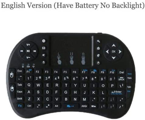 Color: English keyboard Calvas i8 English Russian Spainish 2.4GHz Wireless Keyboard Air Mouse Touchpad Handheld Remote Control for Android TV BOX Mini PC