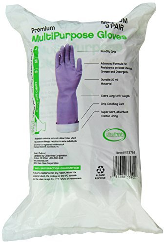 Clean Ones Premium Multi Purpose Non Slip Gloves 20 mil, Med