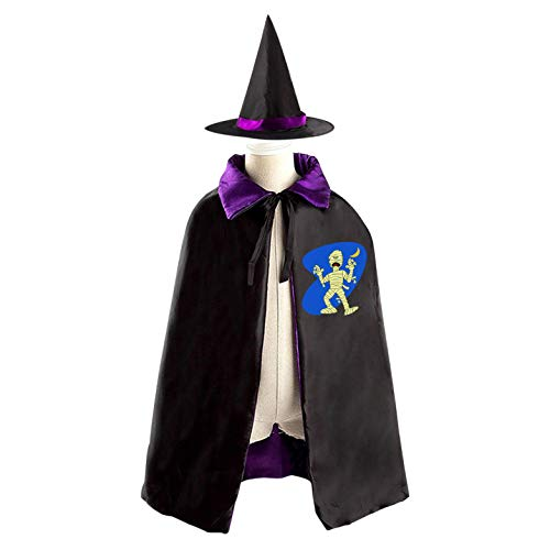 69PF-1 Halloween Cape Matching Witch Hat Evil Mummy
