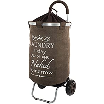 Amazon.com: Laundry Trolley Dolly, Brown Laundry Bag