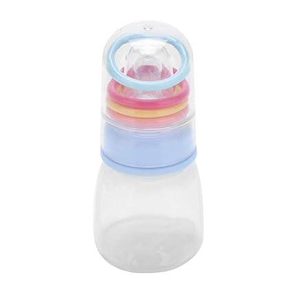 Biberón 80ml BPA Libre Recién Nacido Sonajeros Botellas De Jugo ...