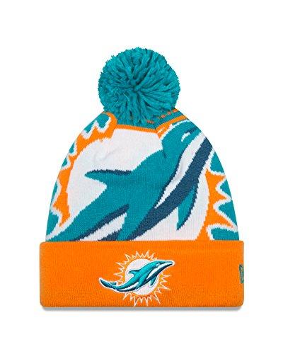 87c4de6f814 Miami Dolphins Pom Hat. NFL Miami Dolphins New Era Logo Whiz Pom Beanie