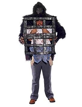Gorilla con jaula Disfraz Negro Marrón: Amazon.es: Juguetes y juegos