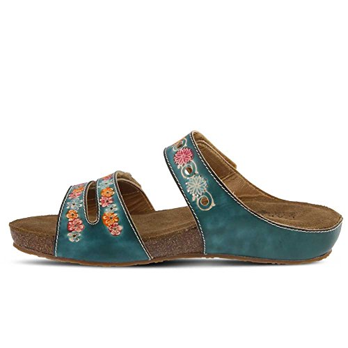 Freesia by Leather Step Women's Teal Sandal Spring Style L'Artiste wRdXFqpxX