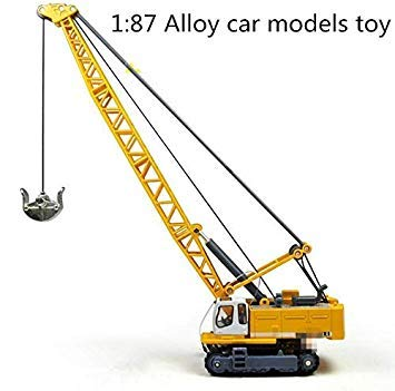 1   87 Glide Alloy Construction Vehicles Toy Model,Cable Excavator Truck Model, Baby Educational Toys