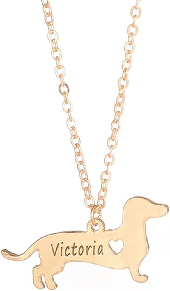 Doxie Name Necklace Puppy Dog Necklace Memorial Necklace Personalised INFINITY DACHSHUND SHORTHAIRED Necklace Dachshund necklace