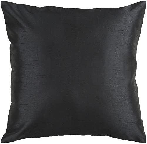 Artistic Weavers HH-037 Hand Crafted 100 Polyester Black 18 x 18 Solid Decorative Pillow