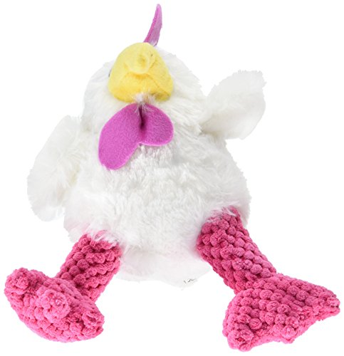 Trusty Pup Hens Plush Toy-Large White & Pink