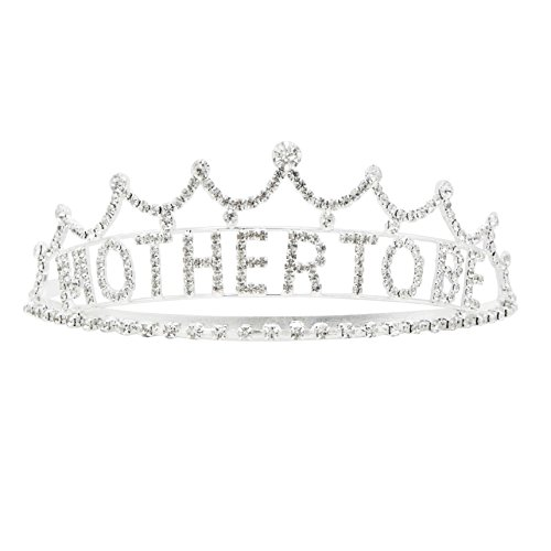 Rosemarie Collections Women's Mother to Be Baby Shower Crown Tiara -