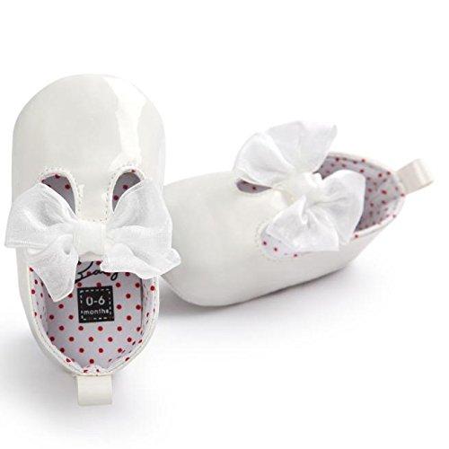 Para Niña Del Arco Niñas Zapatilla De Pasos Elegante Blanco Princesa Zapatos Primeros Bebé Pu Blando Antideslizante Fondo Casual Zapato qfRSWZEw