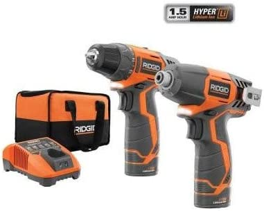 Ridgid ZRR9000SB 12V Cordless Lithium-Ion 2-Speed Drill Driver and Impact Driver Combo Kit Renewed