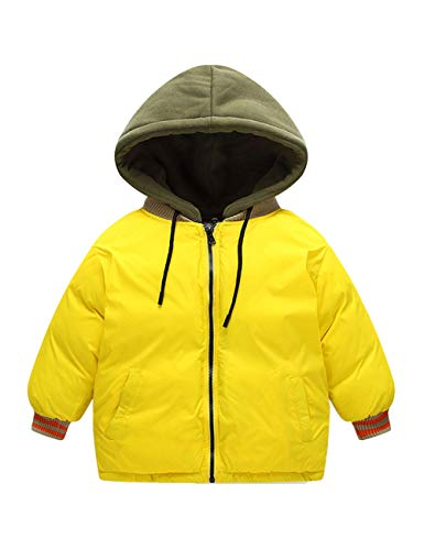 Casual Coats Wear Kids Yellow Jackets BESBOMIG Outerwear Daily Hooded Girls Zipper Jacket Children Cotton Durable Boys C1wF0q1v