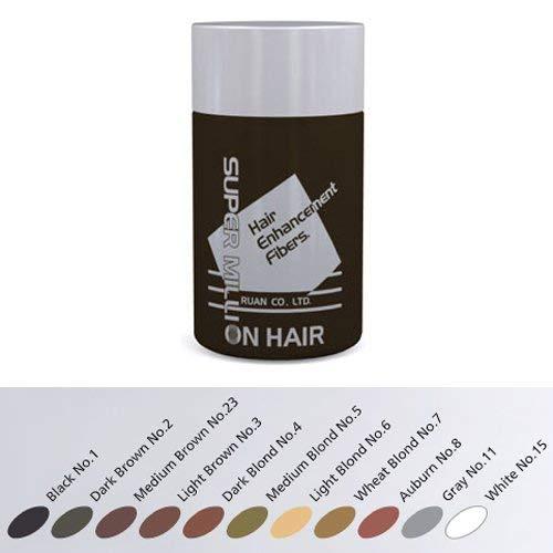 Super Million Hair – Hair Enhancement Fibers – 10 grams – Light Brown No. 3