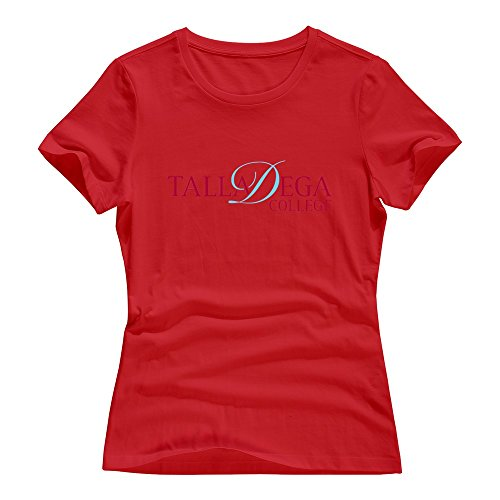 Talladega Racing Shirt - Red Short-Sleeve Talladega College T Shirts For Girlfriends Size L