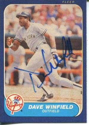 - Dave Winfield Autographed 1986 Fleer Card - Baseball Slabbed Autographed Cards