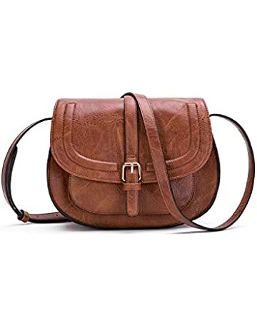 1c229e499d3c Women Crossbody Satchel Bag Small Saddle Purse and Tote Shoulder Handbags