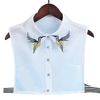 xian Camisa de mujer Falda de cuello Corbata Moda Pájaro pesado ...