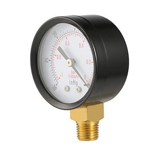 60 psi 30HG Newgreenca Trockenprogramm Vakuum-Manometer Blk Stahl 1//4 NPT Lower Mount