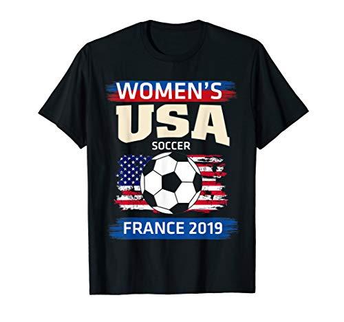 USA Women Soccer Jersey France 2019 T-Shirt T-Shirt