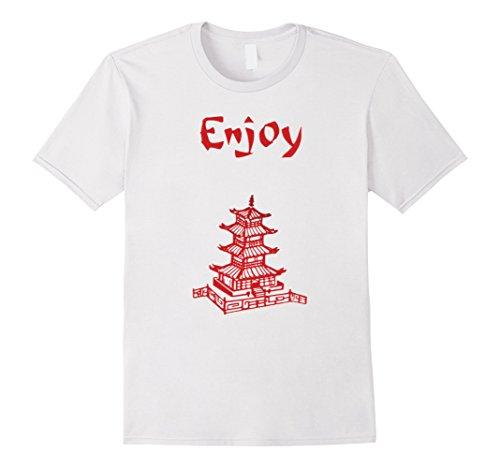Halloween Costume Asian Male (Mens Enjoy Asian Food Halloween Costume T-Shirt Tshirt Medium White)