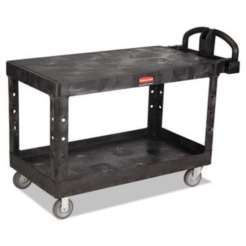 Rubbermaid Commercial - Heavy-Duty Flat Shelf Utility Carts Hd Flat 2 Shelf Utilitycart Large: 640-4545-Bla - hd flat 2 shelf utilitycart large