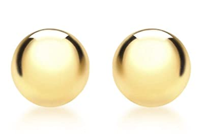 f99d7fccc Carissima Gold Women's 9 ct Yellow Gold 8 mm Half Ball Polished Stud  Earrings
