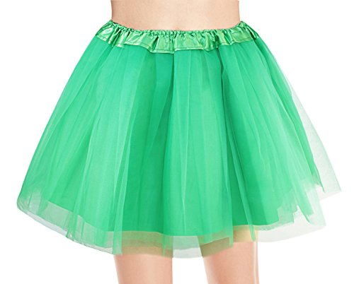 Women's, Teen, Adult Classic Elastic 3, 4, 5 Layered Tulle Tutu Skirt (One Size, (Halloween Costume Tutus For Adults)