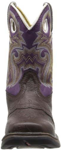 Durango Kids BT286 Lil' 8 Inch Saddle,Dark Brown/Purple,11M Little Kid by Durango (Image #4)