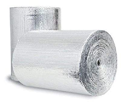 """US Energy Products 50sqft (Foam Not Cheap Bubble) 24inch x 25ft Reflective Foam Core Insulation Garage Pipe Air Duct Faucet Attic Roof Basement Sauna Weatherization wrap kit (1/4"""" thick) R8"""