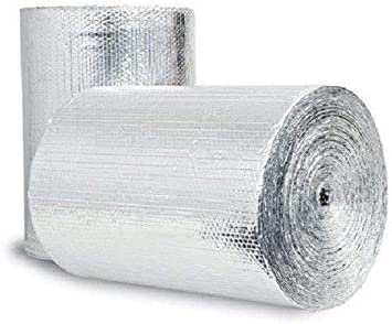 "US Energy Products 48/"" x 5/' Double Bubble White Reflective Foil Insulation R8"