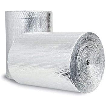 Double Bubble Reflective Foil Insulation: (48 in X 10 Ft Roll) Industrial Strength, Commercial Grade, No Tear, Radiant Barrier Wrap for Weatherproofing Attics, Windows, Garages, RV's, Ducts & More! ...
