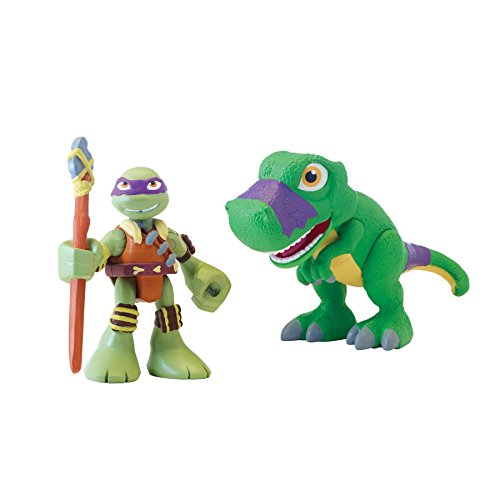 Teenage Mutant Ninja Turtles Pre-Cool Half Shell Heroes Dino Donatello and T-Rex Figures