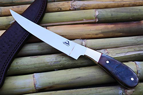 DKC Knives (8 7/18) DKC-952-440c Rustic Stag Fish Filet Knife 440c Stainless Steel Blade 7.4oz 6.75