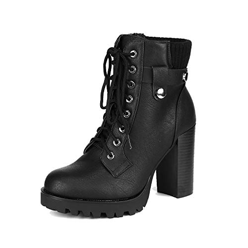 DREAM PAIRS Women's SCANDL Black High Heel Ankle Bootie Size 8 B(M) US