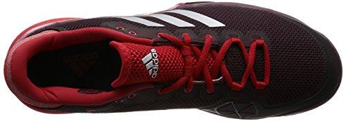 adidas Barricade 2017 - Zapatillas de tenis Hombre Rojo (Dark Burgundy/matte Silver/scarlet)