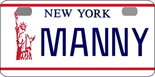 (Personalized New York Liberty Bicycle Replica License Plate any name)