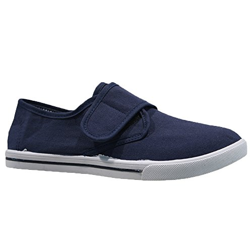Airtech Mens Summer Casual Canvas Skates Espadrilles Pumps Shoe Plimsolls Trainers Size Navy 3oIxXC8YSg