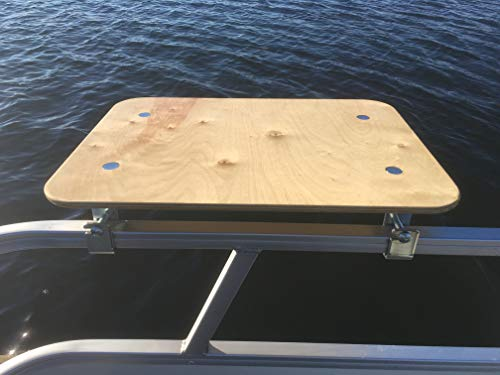 - Arnalls Pontoon Boat Table - Boat & Marine Grill Accessory - Perfect for Pontoon Boats - Bracket Set Table - Pontoon Accessory - Multi-Use Table - Essential Boating Accessory - Portable - Utility Bar