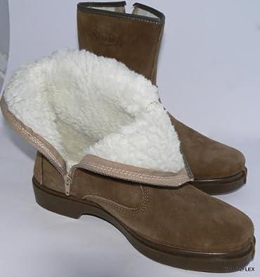 5ed8d789262d33 komo2flex Stiefeletten Herren Stiefel boots lammfell gefüttert Leder FARBE  GRÜN-BRAUN Größe gr.46