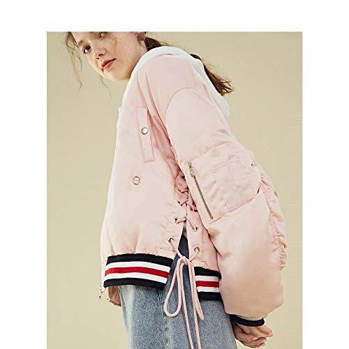 Da Giacca Nuovo Lunghe Downjackte Corta Fashion A Piumino Donna Invernale Rosa Winter Outdoor Maniche wnHTWTq0IY