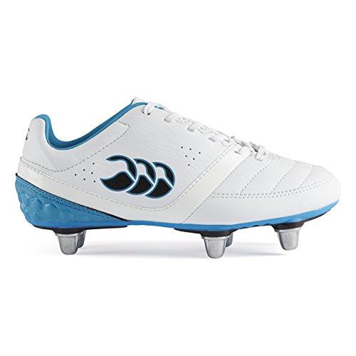 Canterbury Phoenix Club 6 Stud, Botas de Rugby Unisex Niños Blanco (001 White)