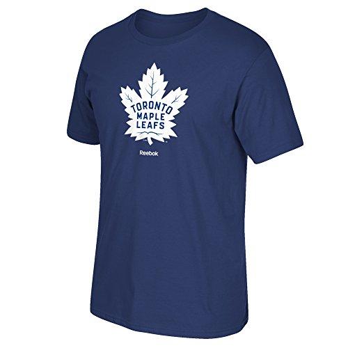 Reebok Toronto Maple Leafs Jersey Crest Logo T-Shirt (Blue) XL