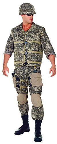 Army Ranger Dress Uniform (UHC Men's US Army Ranger Military Camo Jumpsuit Adult Uniform Halloween Costume, XL)