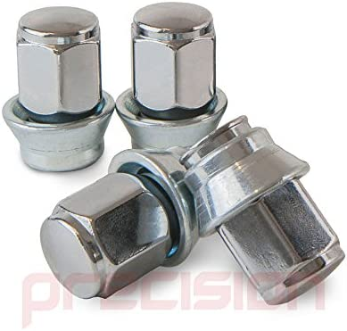 Precision 12 Black Chrome Alloy Wheel Nuts and 4 Locks for Ḟord Fiesta ST with Aftermarket Wheels PN.SFP-12NM10B+N10B533