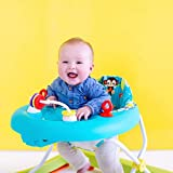 Bright Starts Giggling Safari Walker with Easy Fold Frame for Storage, Ages 6 Months