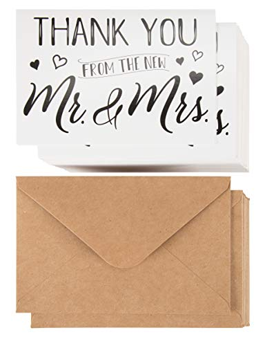 - Sustainable Greetings Wedding Thank You Cards (120 Pack)