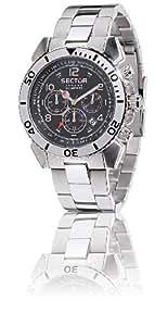 Sector Mountain Centurion R3273603125 - Reloj de caballero de cuarzo, correa de acero inoxidable color plata