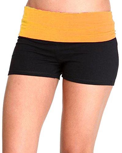 Hollywood Star Fashion - Shorts - para mujer Black/Apricot